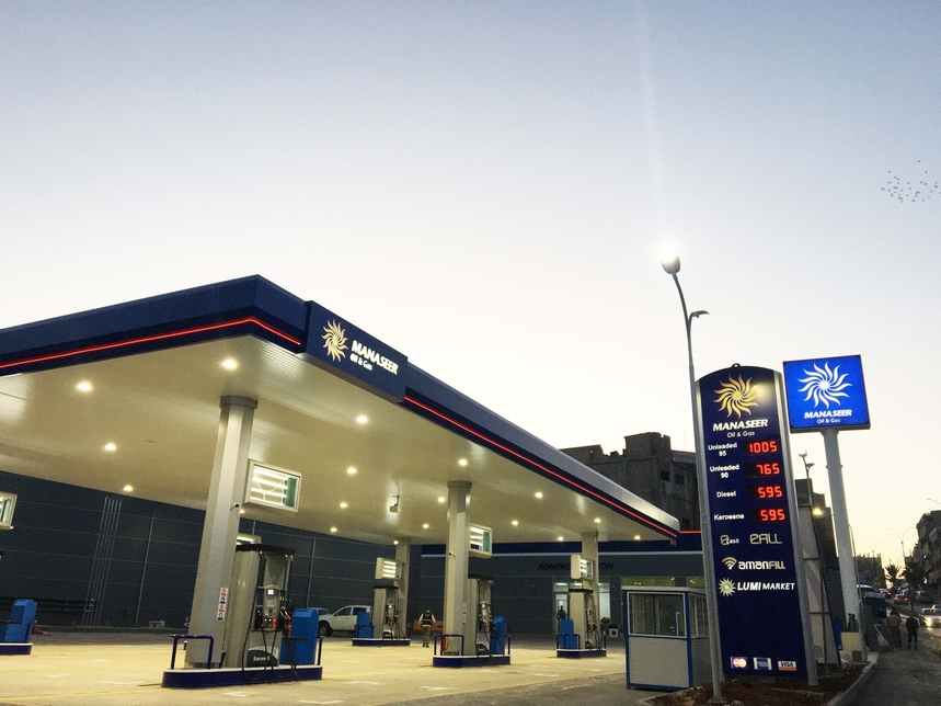 The gas stations will be built within airport premises in Amman. [representational]