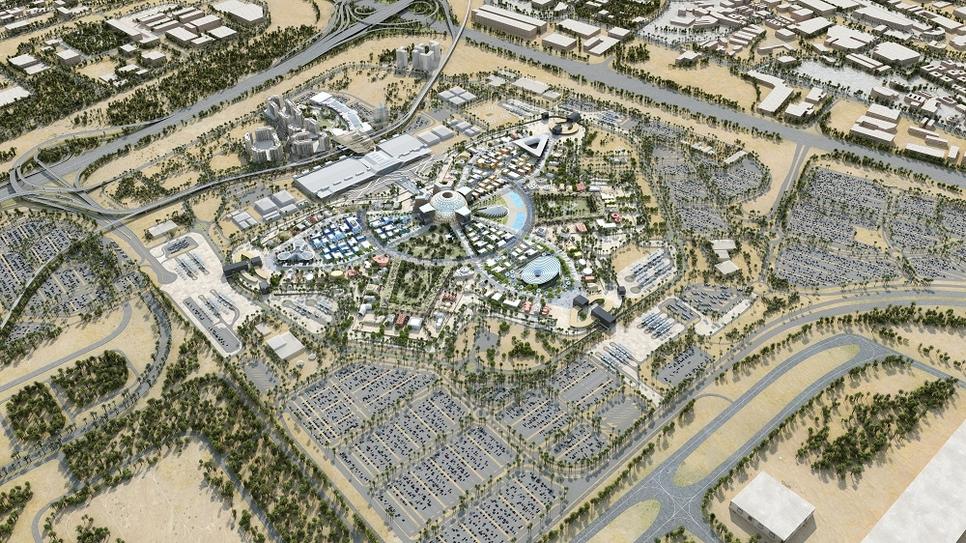 The Expo 2020 Dubai's site spans an area covering 4.38km2 in Dubai South.