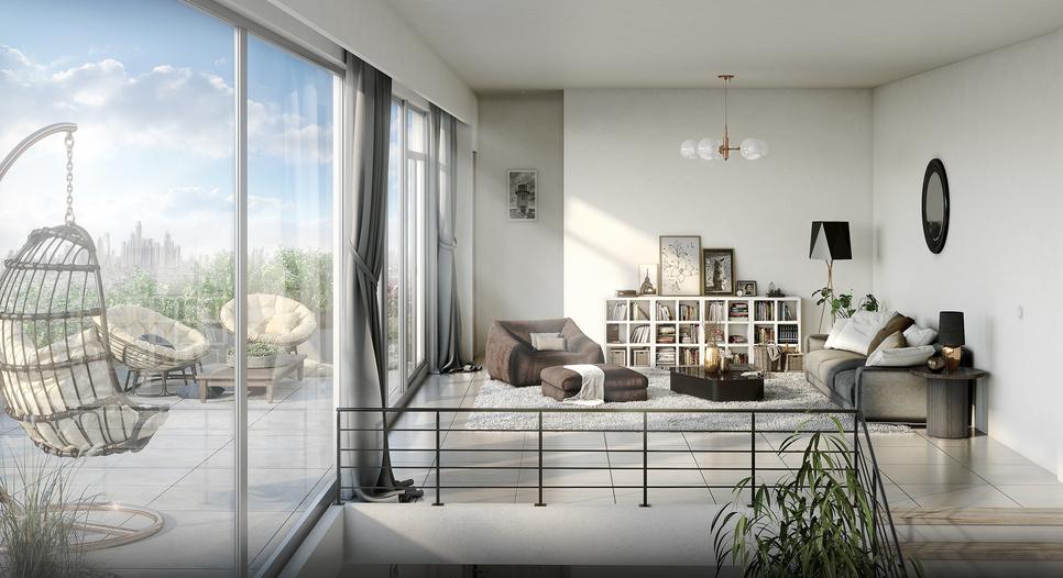 The sky villas are duplex penthouses, according to Azizi Developments.