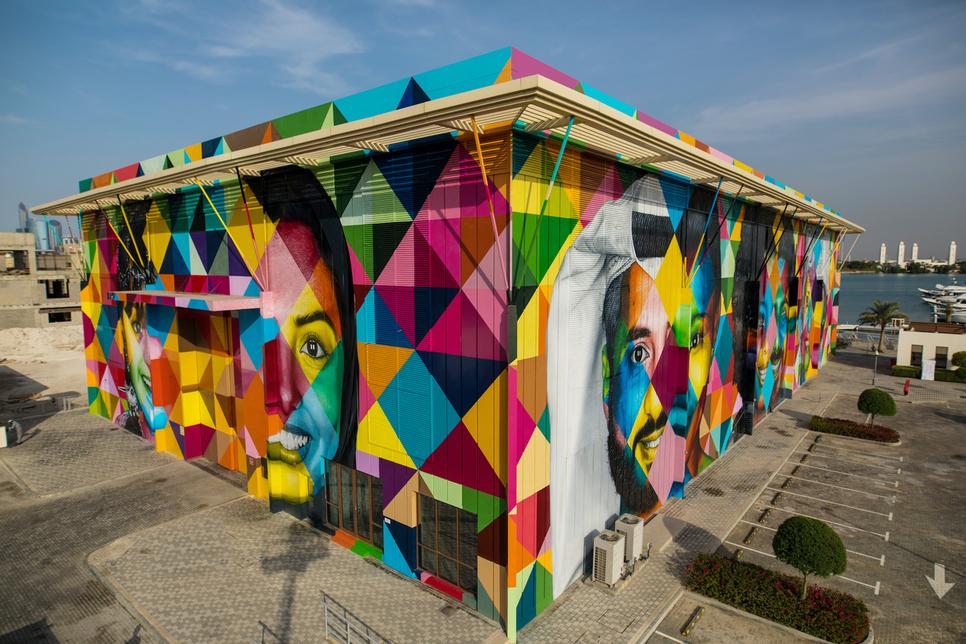 Abu Dhabi's DMT unveils 2,000m2 mural at Marsa Al Bateen
