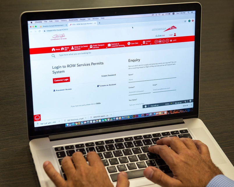 RTA launches online system to handle right-of-way application permits