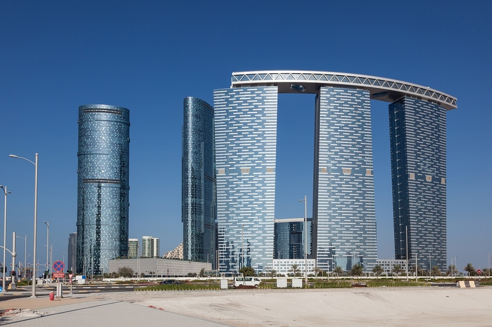 The sustainable initiative was rolled out at Abu Dhabi's Gate & Arc Towers, Sun & Sky Towers.