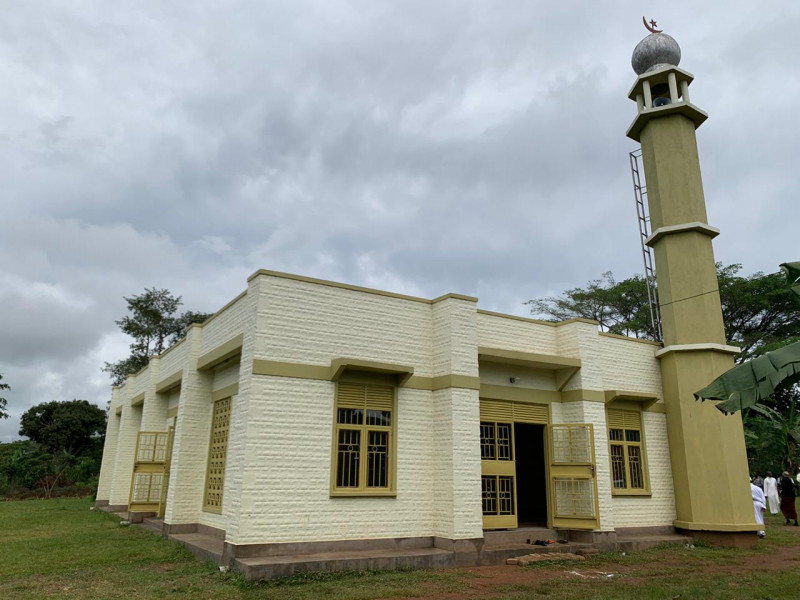 The mosque is located around 80km from Kampala, the capital of Uganda.
