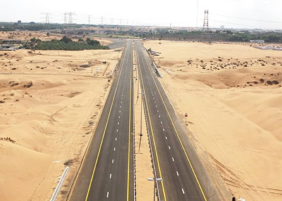 The roads leading to Hamriyah Free Zone is complete.