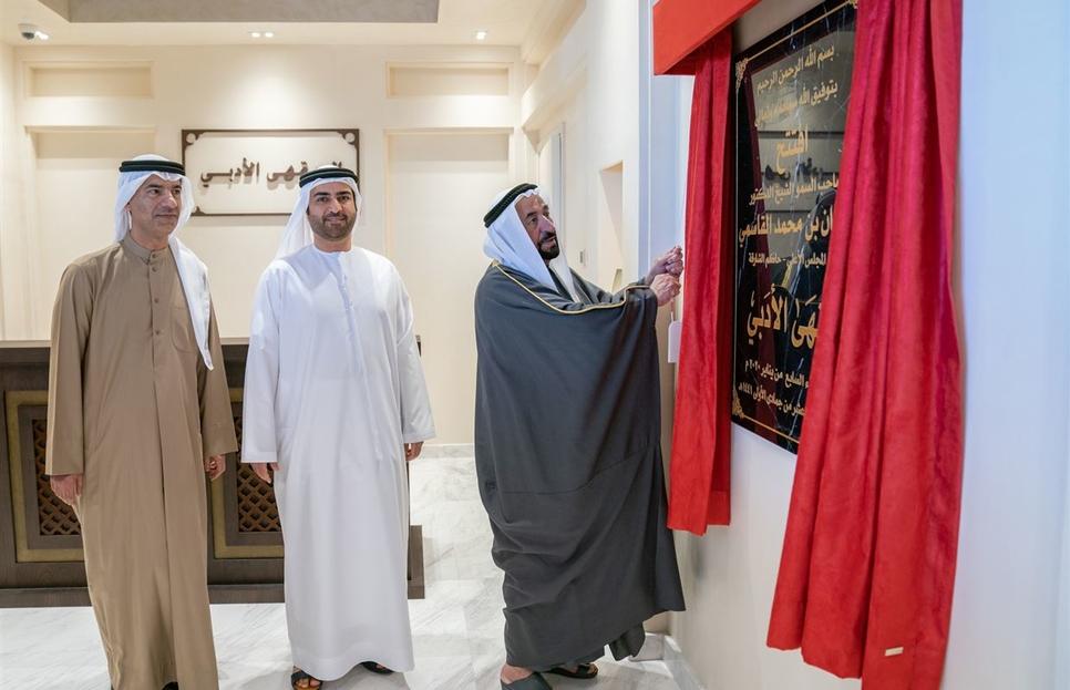 Sharjah Ruler opens two-storey Literary Café in Al Heera