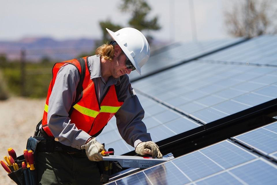 Renewable energy to create 40 million jobs by 2050. [representational]