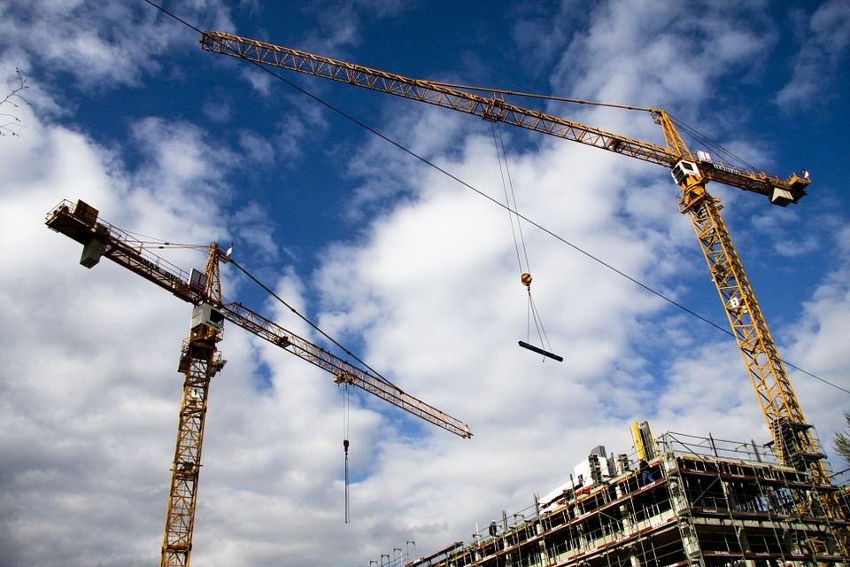Azizi Developments stopped operating tower cranes for 'some time' during rain. [representational]