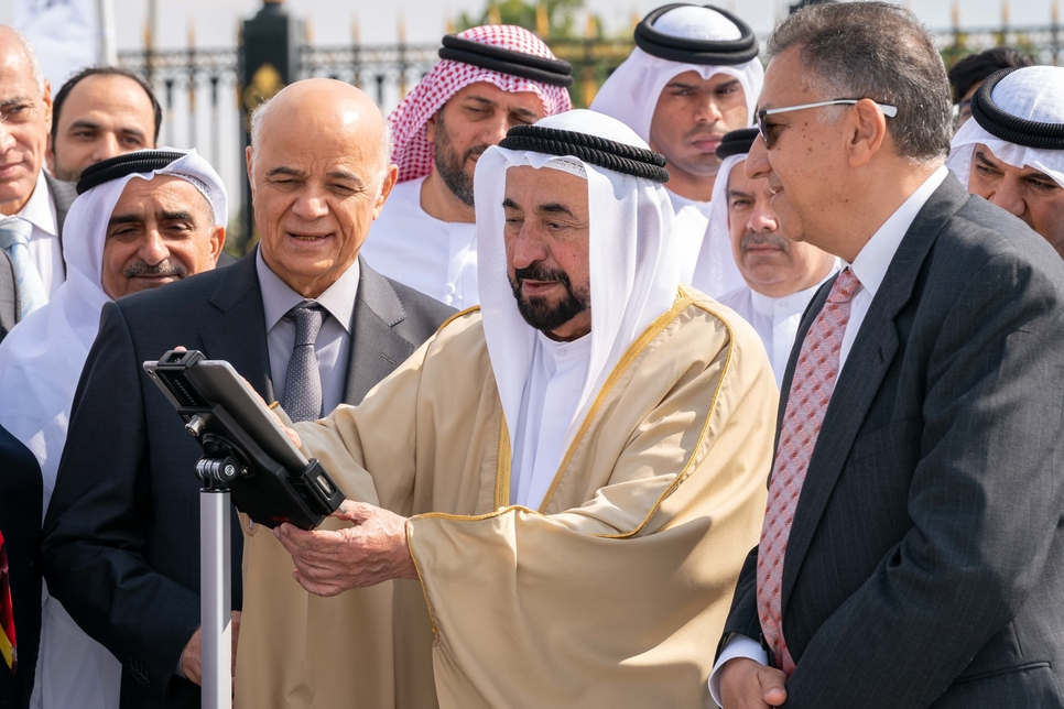 Dr Sheikh Sultan opens the Sharjah Radio Telescope Station. [All images / video courtesy of Wam]