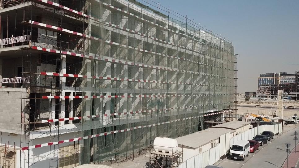 Construction site of Samana Developers' Samana Greens.