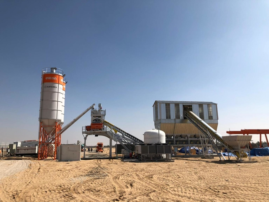 Elkon will supply five concrete batching plants to Katerra.