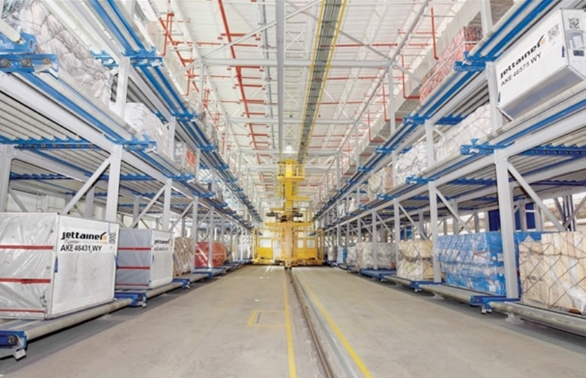 The air cargo unit is a 22,000m2 facility.