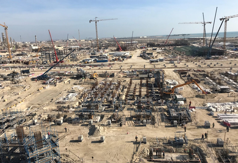 Bahrain Petroleum Company (Bapco)'s Sitra oil refinery has reached 40% completion