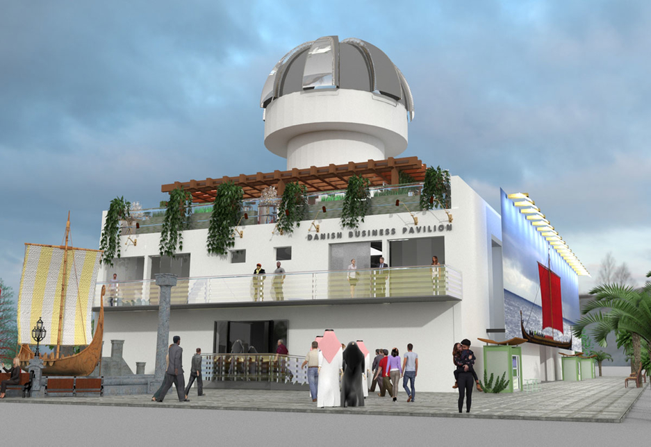 The Danish Business Pavilion is located within Expo 2020 Dubai's Mobility District [image: Madison Group]