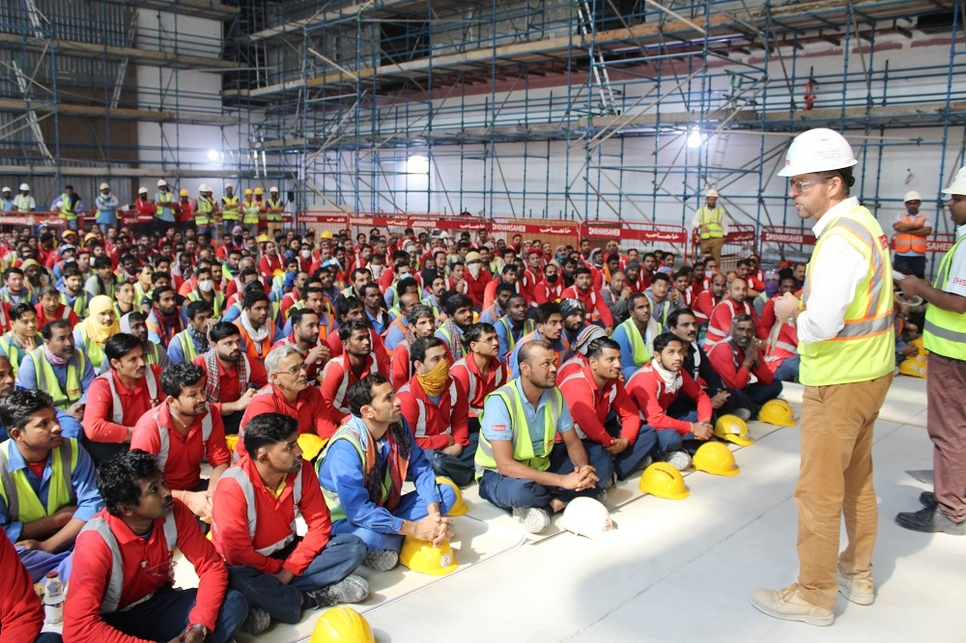 During peak construction period in September 2019, the company deployed 3,500 labourers on site