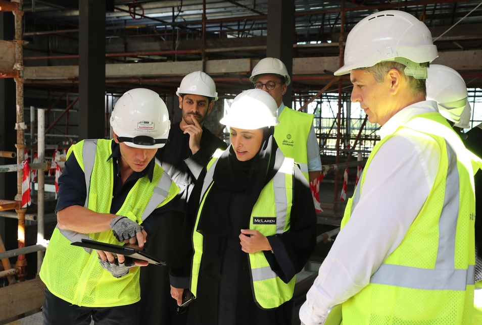 Sheikha Bodour visits Sharjah's 12,000m2 HOW library [Photographs courtesy: Shurooq/Twitter]
