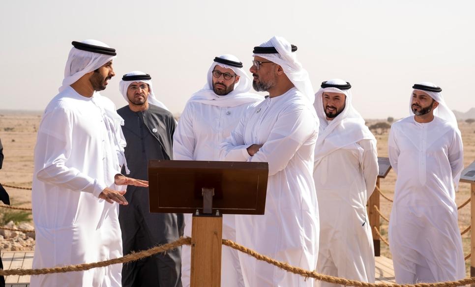 HH Sheikh Khalid bin Mohamed bin Zayed opens Jebel Hafit Desert Park [Photo, video courtesy: Wam]