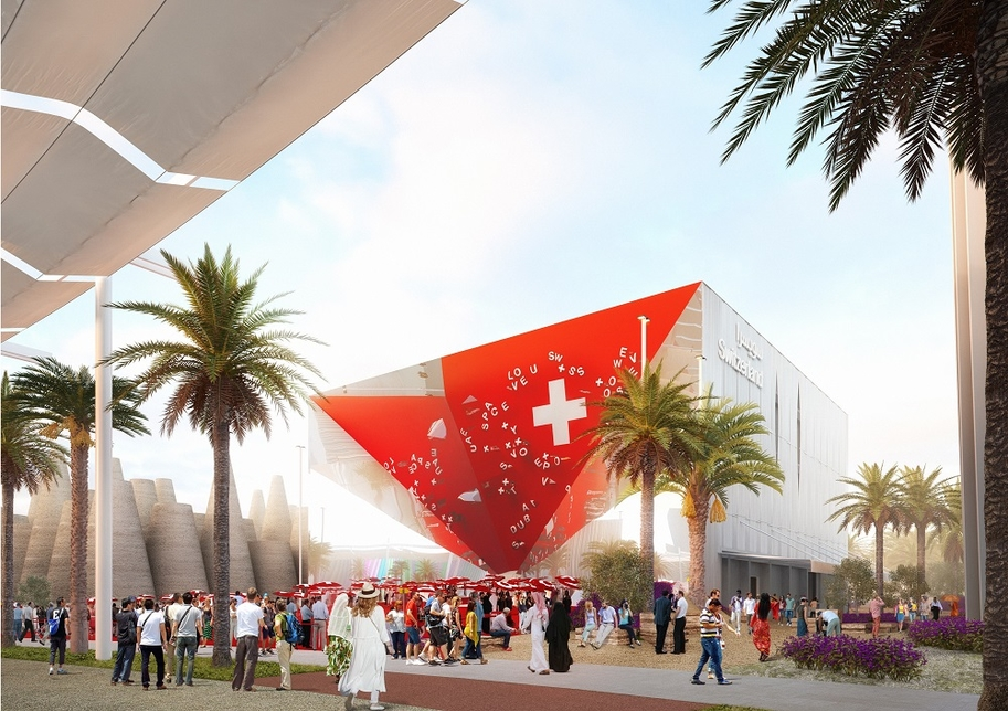 Swiss Pavilion at Expo 2020 based on public-private partnership