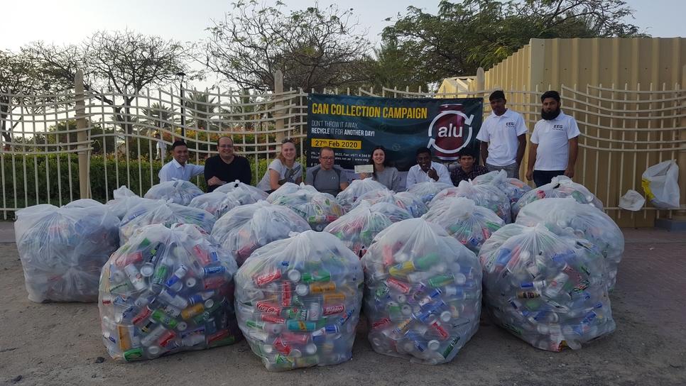 EEG initiative prevents 5,235kg of aluminium cans from UAE landfills