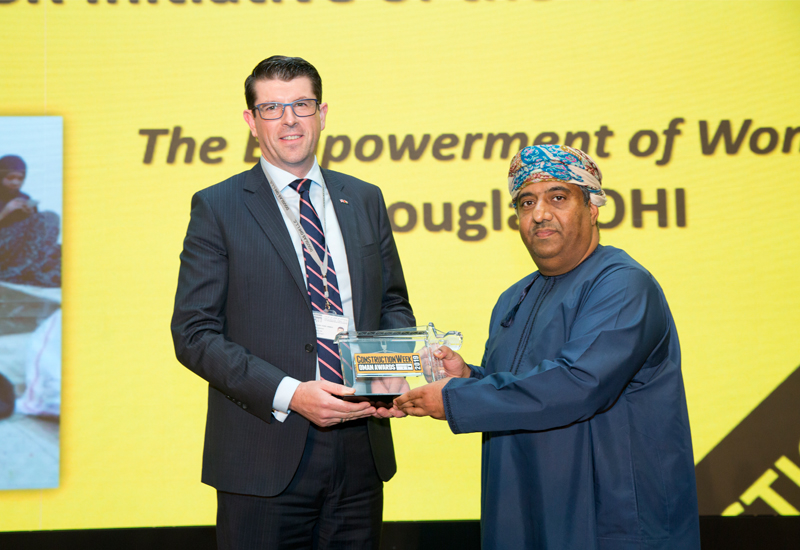Douglas OHI's Aaron Hennessy picked up the Highly Commended for Construction Executive of the Year in last year's CW Oman Awards