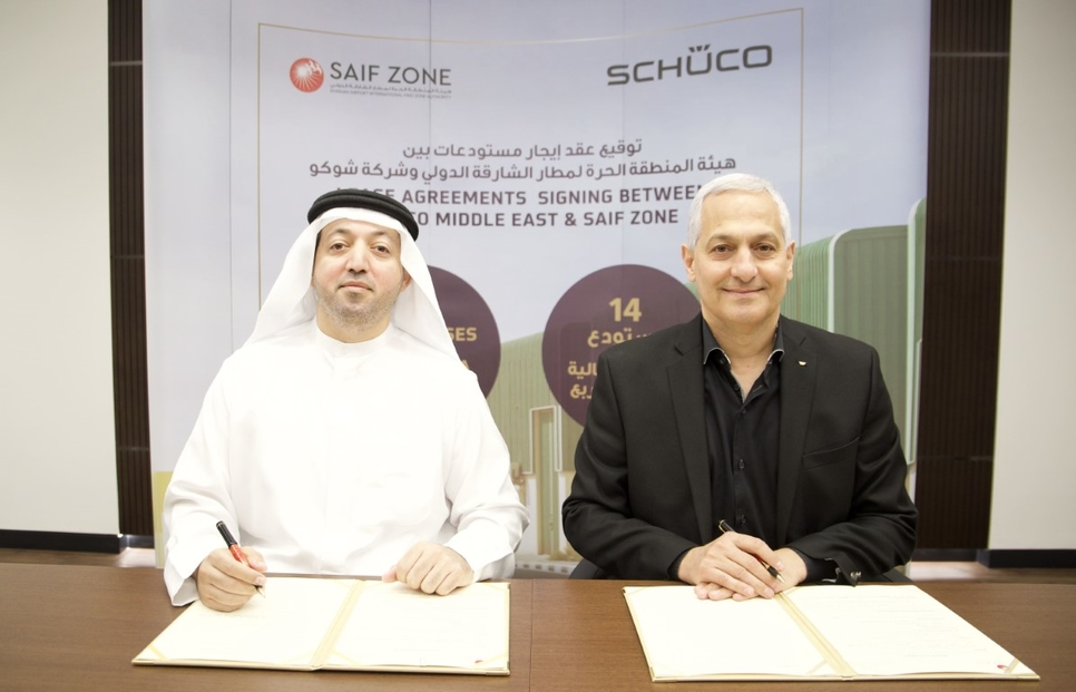 Germany's Schüco leases 8,400m2, 14 warehouses in UAE's SAIF Zone