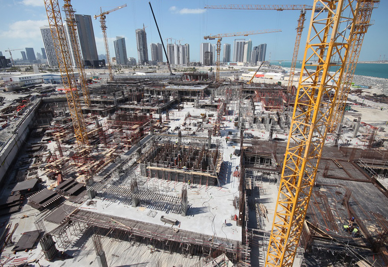 IMKAN has completed the concrete substructure for its seven-tower Pixel development