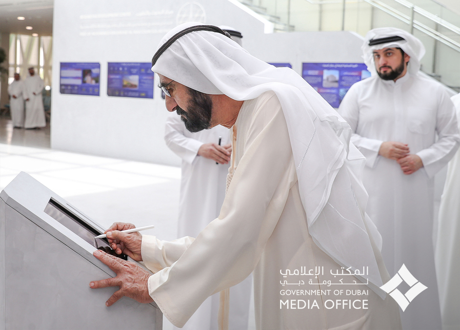 Sheikh Mohammed also met a number of researchers and experts [All images: Twitter/ Dubai Media Office]