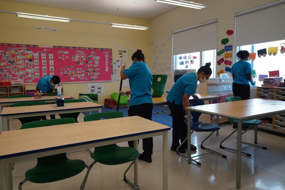 Dubai Municipality fights COVID-19 with school sterilisation programme [Photos courtesy: Dubai Media Office]