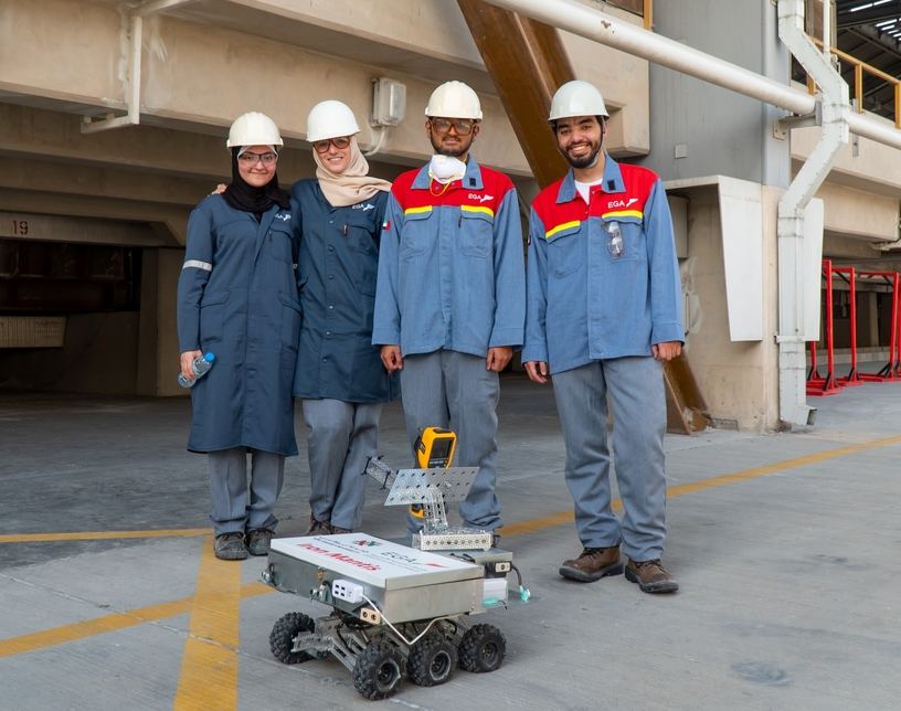 EGA has picked a robot designed by Abu Dhabi University students for use at its smelters