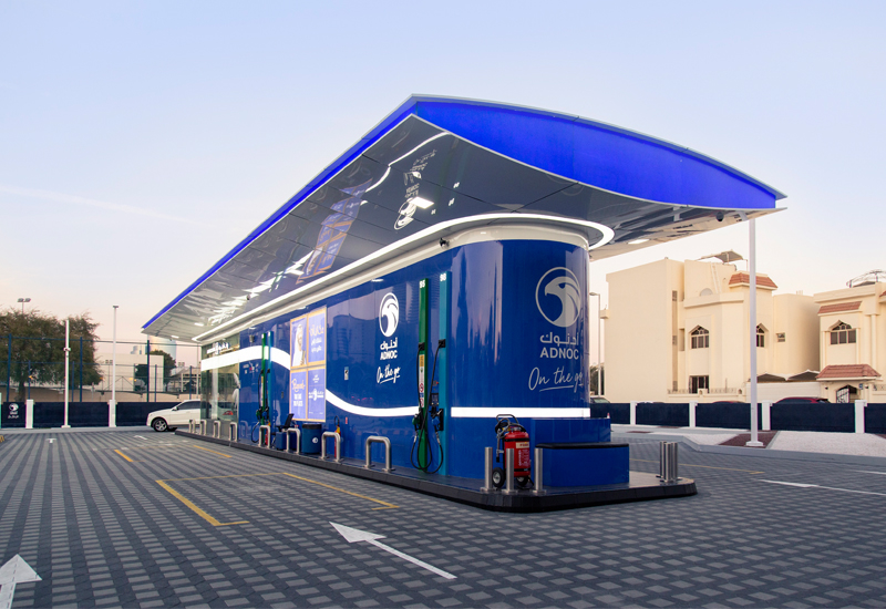 ADNOC has opened its first 'On the Go' service station in Al Bateen, Abu Dhabi