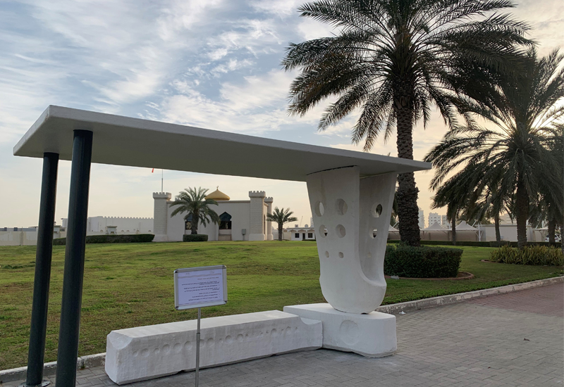 ACCIONA has claimed to have built the Middle East's first bus stop using 3D concrete printing technology