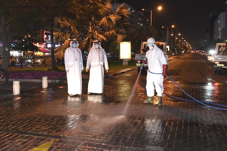 Dubai Municipality begins street sterilisation to curb COVID-19