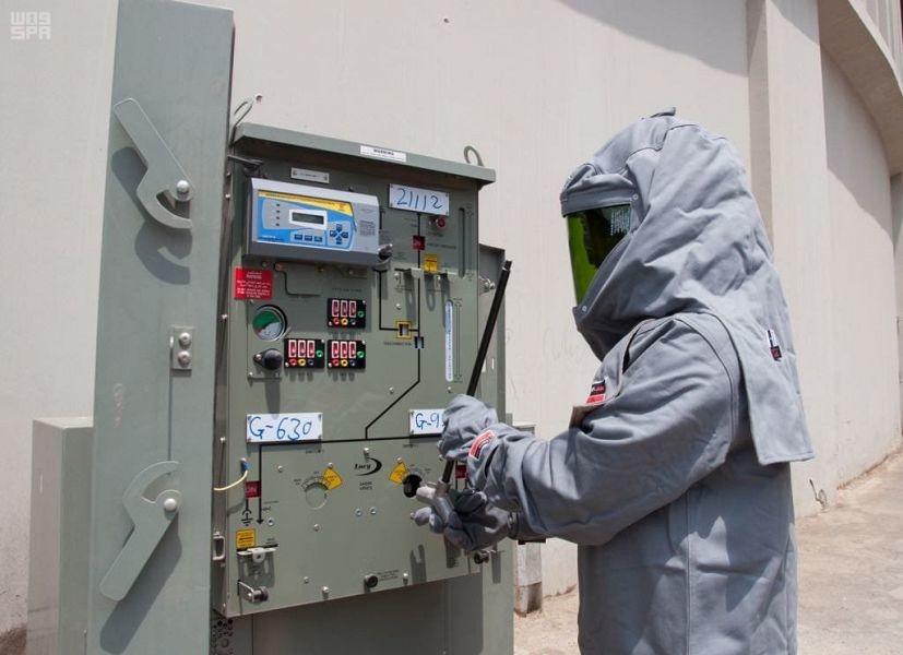 Saudi Electricity Company takes measures to fight COVID-19 [Photos courtesy: SPA]