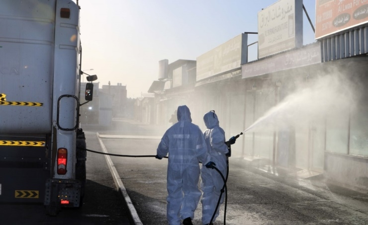 Cleaning companies trained by Civil Defence are conducting the disinfection programme