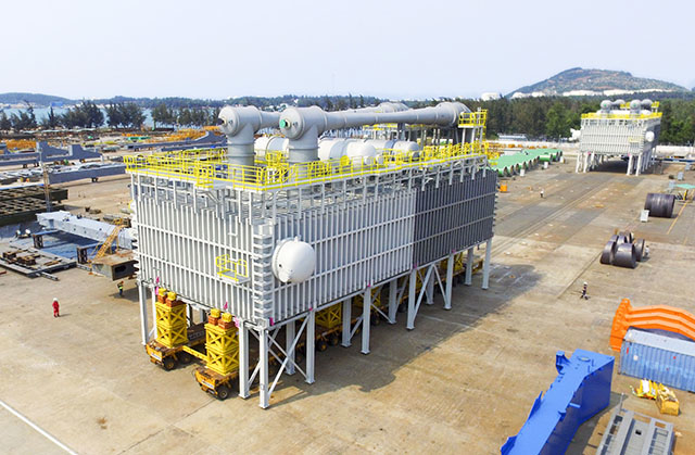 The equipment will heat and turn seawater into distilled water at the Bapco Refinery in Bahrain.
