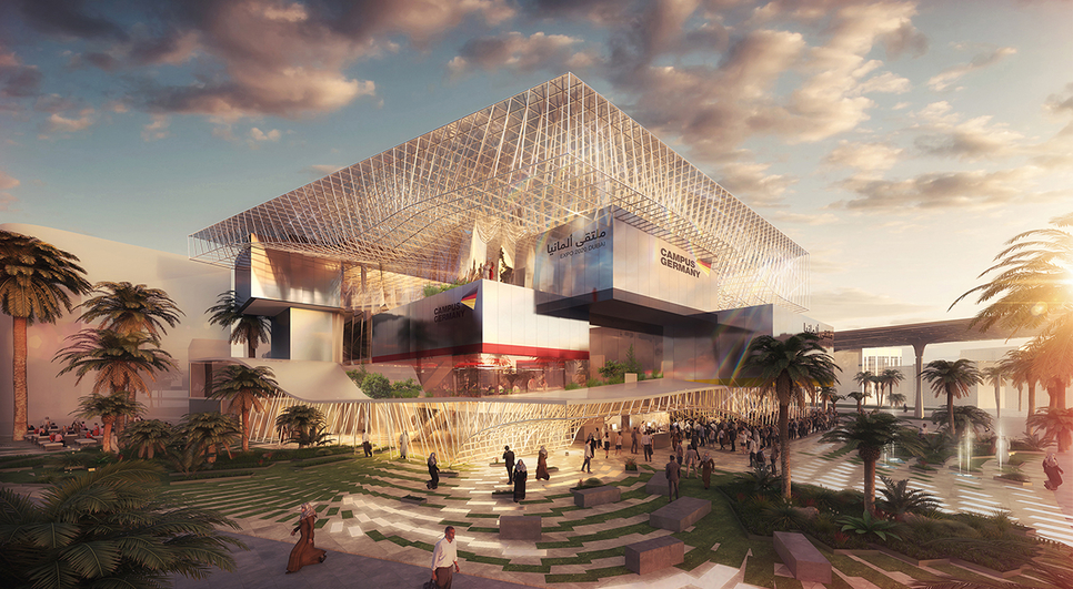 The Germany Pavilion will be located within Expo 2020 Dubai's Sustainability District. [image: Supplied]