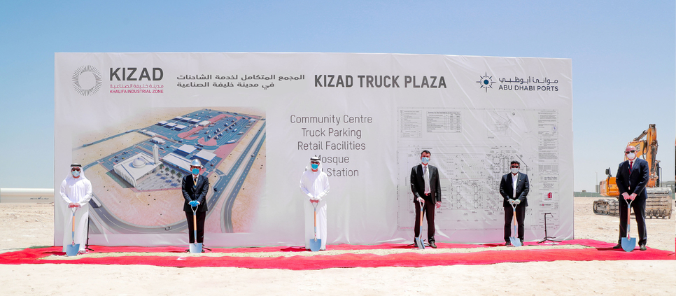 KIZAD breaks ground on 87,000m2 Truck Plaza with refuelling, rest facilities