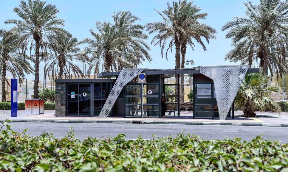 The bus shelters have opened at four different locations across Dubai [All images: Twitter/ RTA]