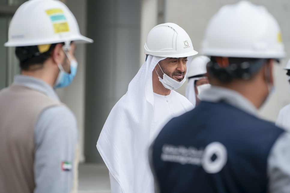 HH Sheikh Mohamed visited the Barakah Nuclear Energy Plant.
