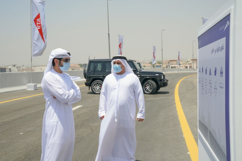 Sheikh Hamdan reviews work on $544.5m Dubai-Al Ain road project