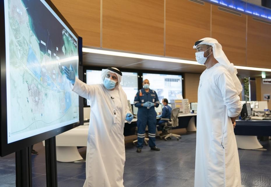 Abu Dhabi Crown Prince visits ADNOC's Ruwais refining facilities. [All Images: Wam]
