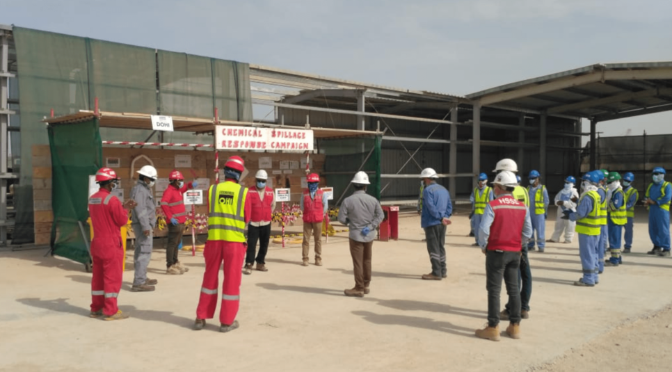 Douglas OHI carries out chemical spill demo campaign