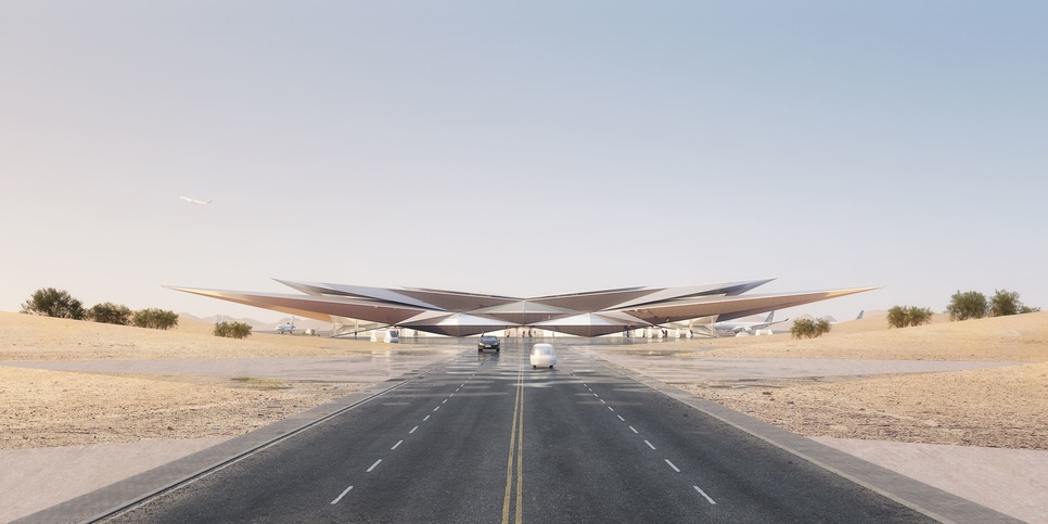 AMAALA selects mirage-inspired airport design by Foster + Partners