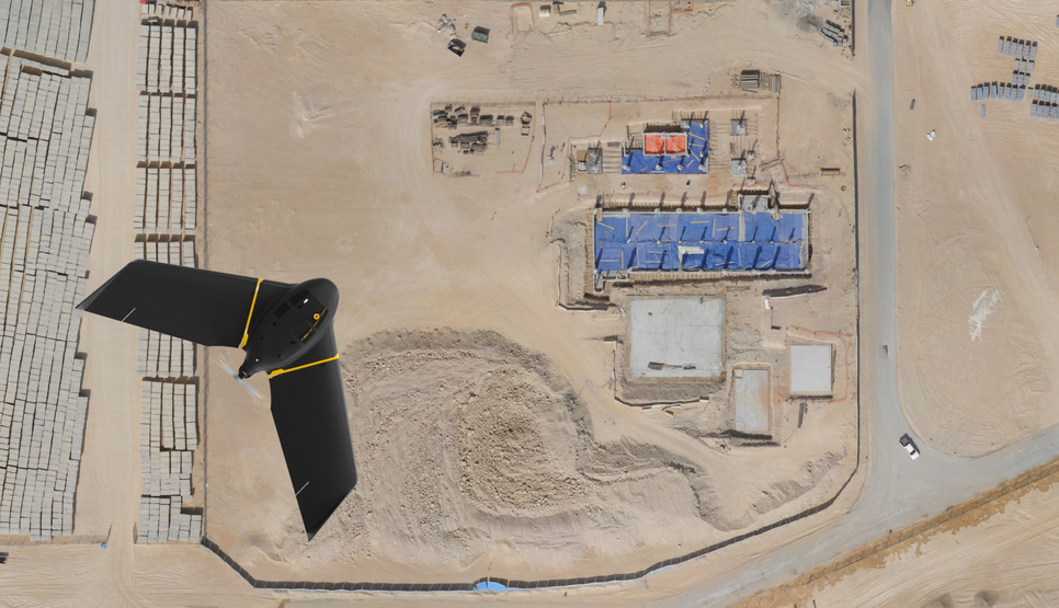 """Drones are """"an imperative tool to ensure continuity of building operations in Saudi Arabia""""."""