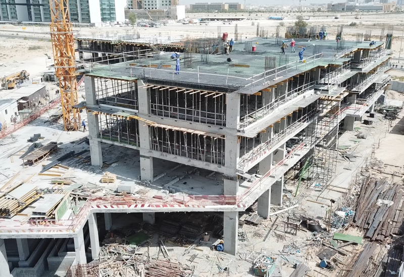 Samana Hills (pictured) has reached 50% structural completion