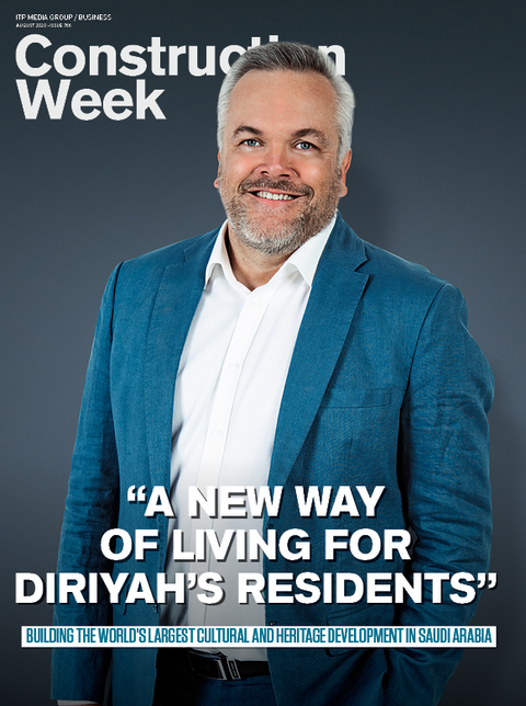 Diriyah Gate is August's front cover splash for Construction Week
