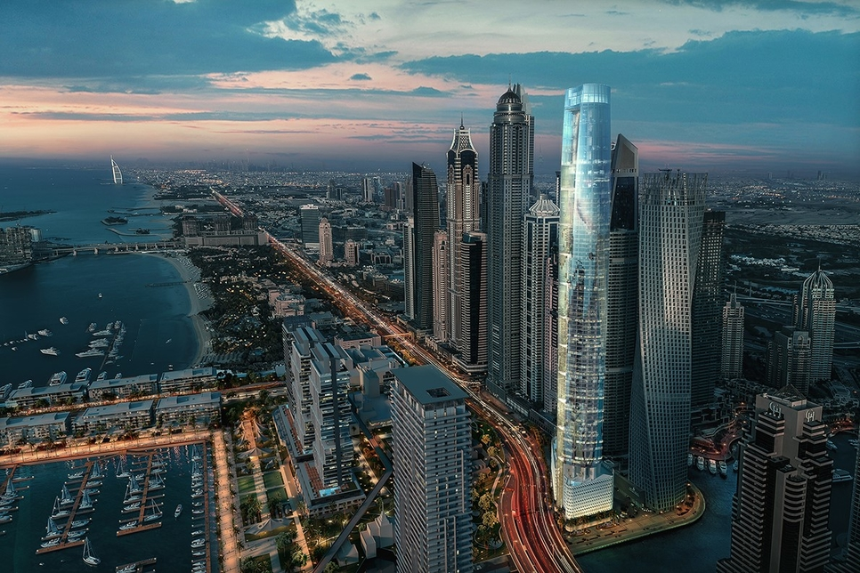 Located in Dubai Marina, Ciel will be the world's tallest hotel standing at 365-metres tall