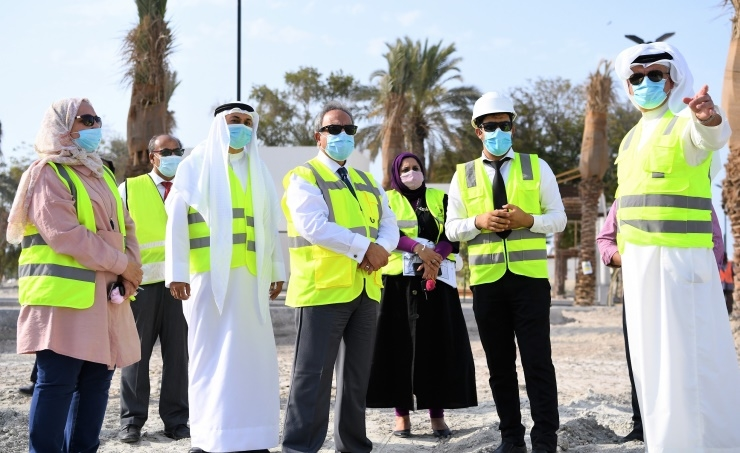 Bahrain's Works Minister inspects 60,000m2 Water Garden project