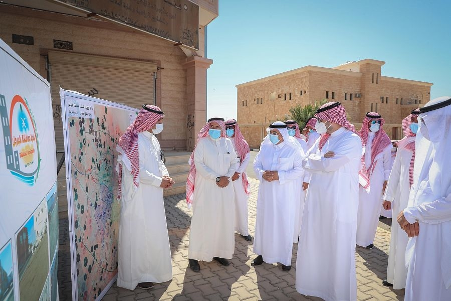 Saudi's Prince Faisal inspects works in Al-Jawf governorate