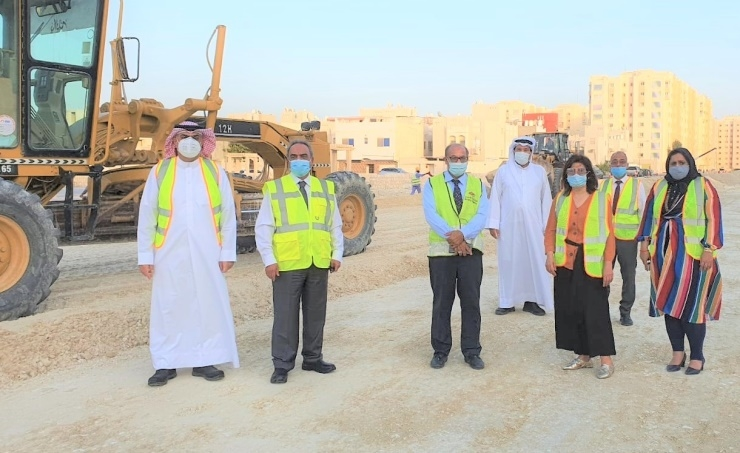 Work on the road construction project started in June 2020.