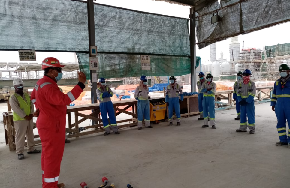 Workers were also made aware of the use of personal protective equipment (PPE).
